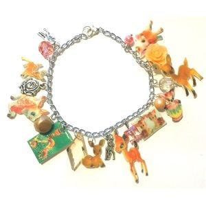 Kitschy Fawn Collection Charm Bracelet